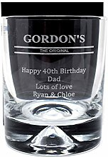 Gordon's Gin Glas mit Gravur,