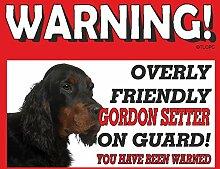 Gordon Setter Guard Dog Metall Schild 119