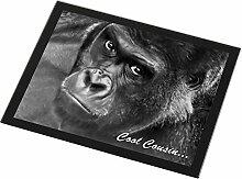 Gorilla 'Cool Cousin' Sentiment Glas