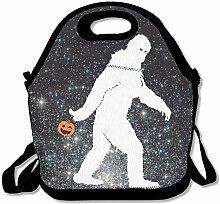 Gorilla Bigfoot Halloween Lunch Bag Tote Handbag