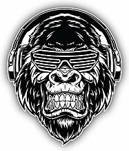 Gorilla DJ - Self-Adhesive Sticker Car Window