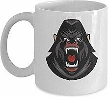 Gorilla Face Mug - Cool Animal Design - 11 Unzen
