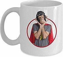 Gorilla-Gesichts-Tasse - lustige tierische