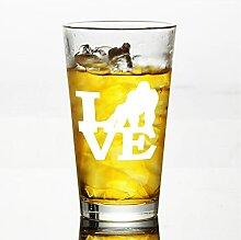 Gorilla Love Kristall-Weinglas, ohne Stiel,