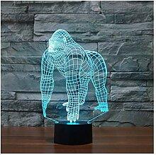 Gorilla Nachtlicht Illusion Lampe Nachttischlampe,