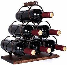 GORLARY Weinregal aus Holz für 6 Flaschen,