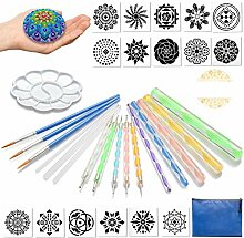 GORNORVA Mandala-Dotting-Werkzeuge, Schablone,