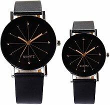 Gosear 1 paar Männer Frauen Lässige Geschäft Armbanduhr für Liebhaber mit PU-Leder-Band