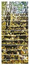 Gosear 13pcs Wechsel Blätter Stil Dekorative 3D-Effekt Treppe Aufkleber Treppe Aufkleber Selbstklebend Home Dekoration
