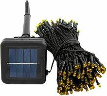 Gosear 200 LED 22 m Solar Powered String Märchen Lichter für Hallenbad Outdoor Garten Weihnachten Hochzeit Partei Weiß