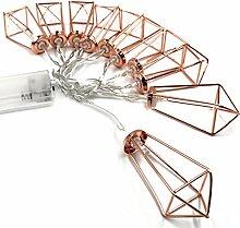 Gosear 3.3 m 20 LED Neuheit Metall Geometrischen Käfig String Lichter Draht Lichter Batterie Betrieben Dekoration für Hochzeit Partei Urlaub Home Zimmer