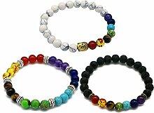 Gosear 3 Stk 3 styles Unisex 7 Chakren Edelstein Perlen Armband Yoga Reiki Gebet Energie Heilung Balance Armband Schmuck