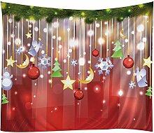 Gosear 3D Muster Weihnachten Xmas Stil Wandbehang Teppich Beach Decke Wand Hängen Dekoration 200 x 150CM/ 78.74 x 59.06 Inch C