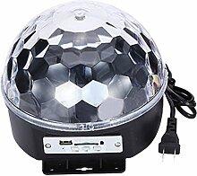 Gosear 6-Farb wechselnden Musik Voice Control LED Crystal Ball Dekoration Bühne Lampe für Xmas Party Pub Outdoor-Aktivität mit Fernbedienung