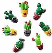 Gosear 8 Stk Assorted Stile Sukkulenten Kaktus Form Kühlschrank Kühlschrank Decor Magnete Aufkleber Startseite Dekoration Kinder Bildung Spielzeug