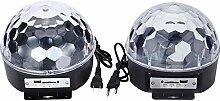Gosear 9-Farbe Wechselnden Musik Voice Control LED Crystal Ball Dekoration Bühne Lampe für Xmas Party Pub Outdoor-Aktivität mit Fernbedienung