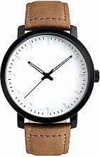Gosear Classic Männer Business Casual Luxus Leder Strap Quarz Handgelenk Watch Armbanduhr