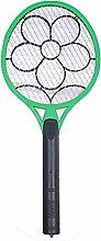 Gosear Handheld Elektrische Bug Fliegen Mosquito Insekt Fliegenklatsche Schläger Killer für Innenaufnahme Outdoors Quantität 1 Zufällige Farbe