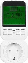 Gosear Hoch Genauigkeit Plug Macht Energie Meter Watt Spannung Meter Socket Mit Grün Beleuchtung Große LCD Anzeige Über Alarm Funktion EU-Typ