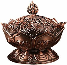 Gosear Lotus-Form Aromatherapie Weihrauch Brenner Halter Ofen Räuchergefäß Haus Dekoration Zubehör C