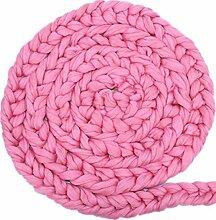 Gosear Neugeborenes Baby Wolle Garn geflochten Gestrickte Wolldecke Decke Fotografie Foto Hintergrund Requisiten Basket Stuffer Füller Pink