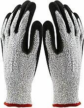 Gosear Sicherheit Stich Schnitt Widerstandsfähig Küche Handschuhe mit Ebene 5 Schutz für Schneiden Metallbearbeitung Hof Arbeit XL