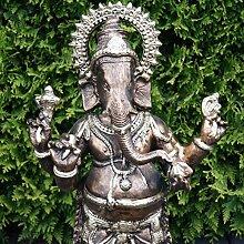 Goße Ganesha Figur Gold Bronze Optik Dekoration