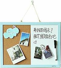 gossipboy 2in 1Cork Board Memo Board Whiteboard Foto Nachricht Rahmen hängende Dekoration Wand Schreibtisch Decor Graffiti Board mit Push-Pins, Magnet, Pen