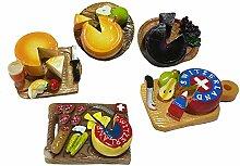 gossipboy 5PCS/1SET Funny 3D Käse Design Kühlschrank Kühlschrank Magnete–Perfect Family Kühlschrank Dekoration, Büro Magnete, Dry Erase Board Magnete, Kühlschrank Magnete