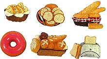 gossipboy 6PCS/1SET Funny 3D Brot Design Kühlschrank Kühlschrank Magnete–Perfect Family Kühlschrank Dekoration, Büro Magnete, Dry Erase Board Magnete, Kühlschrank Magnete