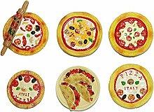 gossipboy 6PCS/1SET Funny 3D Pizza DeSign Kühlschrank Kühlschrank Magnete–Perfect Family Kühlschrank Dekoration, Büro Magnete, Dry Erase Board Magnete, Kühlschrank Magnete