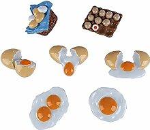 gossipboy 7Stück/1SET Funny 3D Eier Design Kühlschrank Kühlschrank Magnete–Perfect Family Kühlschrank Dekoration, Büro Magnete, Dry Erase Board Magnete, Kühlschrank Magnete