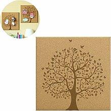 gossipboy Baum Design DIY Dekoration Cork Board Memo Board Foto Nachricht Rahmen Wandbild Aufhängen Home Decor mit Push Pins Wand Haken C