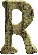 gossipboy Vintage großer Deko Holz Buchstaben und Zahlen Wand Aufkleber Wanddeko zum Aufhängen Restaurant Decor für Zuhause, Kindergarten, Shop, Business Schilder, Namen, Bar, Party, Festival Hochzeit Dekoration, DIY Decor R