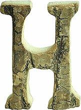 gossipboy Vintage großer Deko Holz Buchstaben und Zahlen Wand Aufkleber Wanddeko zum Aufhängen Restaurant Decor für Zuhause, Kindergarten, Shop, Business Schilder, Namen, Bar, Party, Festival Hochzeit Dekoration, DIY Decor h