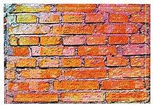 Gothic#90punk Orange Pink Rechteckige Wandfliese