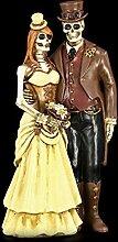 Gothic Skelett Brautpaar Figur - Steampunk - I Do