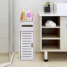 GOTOTOP Badezimmer-Schrank, freistehend, weiß,