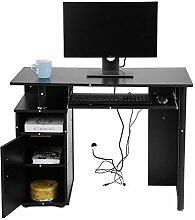 GOTOTOP Computer-Schreibtisch, schwarzes Eisen