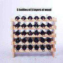 GOUDU Weinregal Wein Regal Holz Flaschenregal