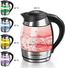 GOURMETmaxx Wasserkocher Glas-Wasserkocher, 1,8 l,