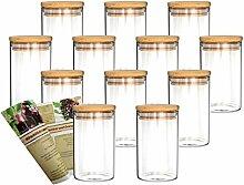 gouveo 12er Set 250 ml Glasbehälter aus