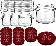 gouveo 12er Set Einmachgläser 230 ml incl.