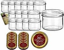 gouveo 15er Set Einmachgläser 230 ml incl.