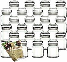 gouveo 24er Set 200 ml Stopfengläser Rondo Glas,
