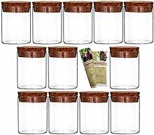 gouveo 24er Set 50 ml Glasdosen Vorratsdosen aus