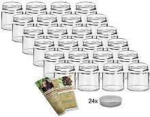 gouveo 24er Set Einmachgläser rund 220 ml inkl.