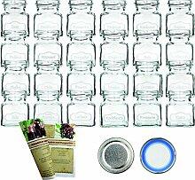 gouveo 24er Set Leere Gewürzgläser 120 ml Typ 3