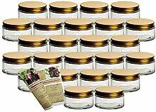 gouveo 24er Set Schraubverschluss Einmachglas 200
