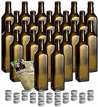 gouveo 30er Set 500 ml Glasflasche Maraska Antik